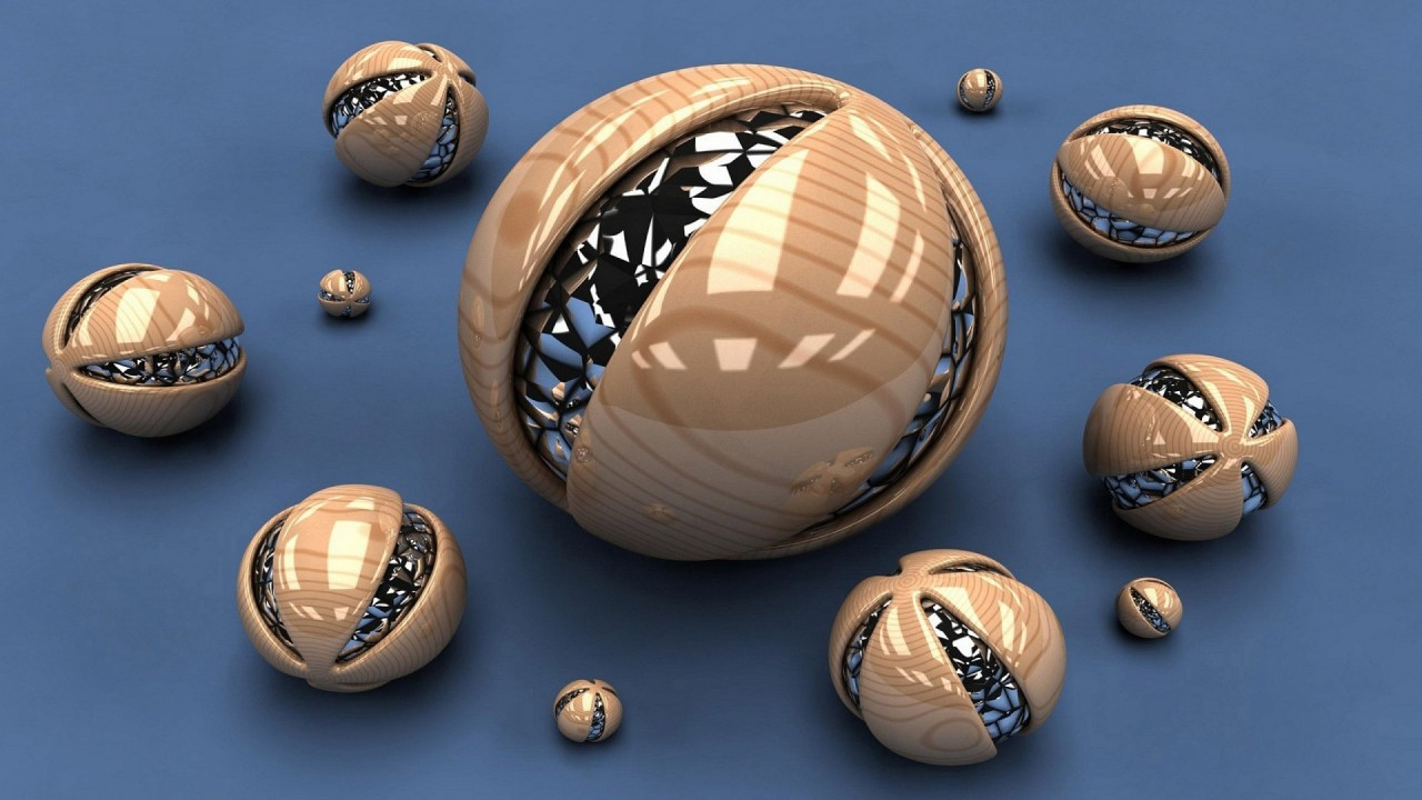 hd wallpaper 3d spheres