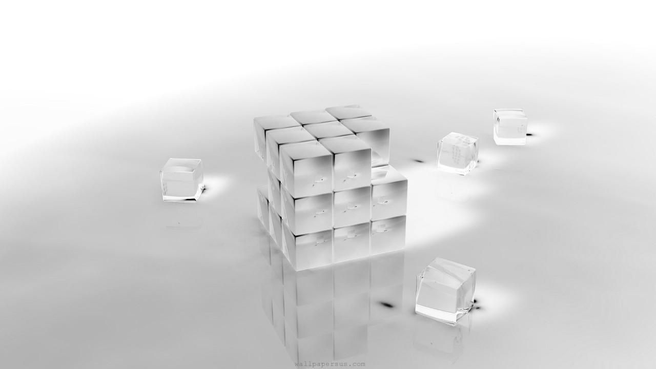 hd wallpaper cube 3D crystal
