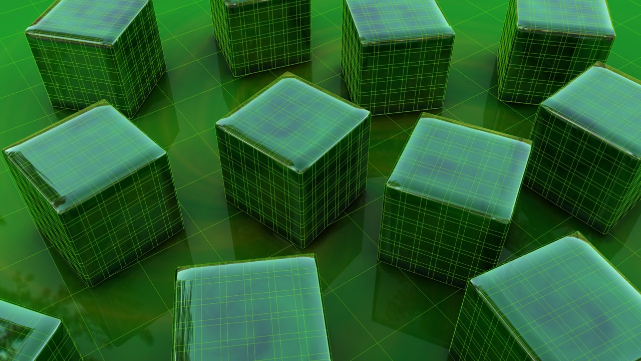 hd wallpaper green 3d cubes hd