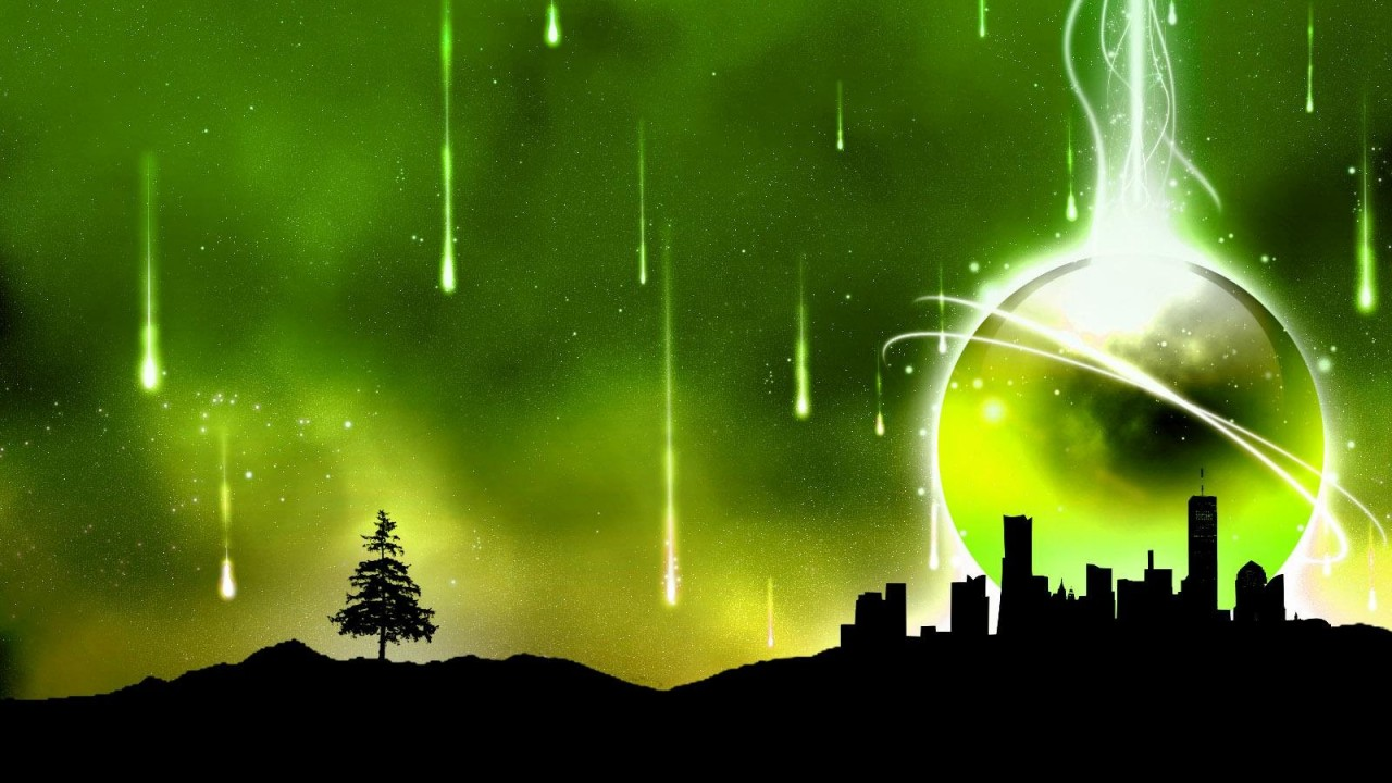 green abstract city normal