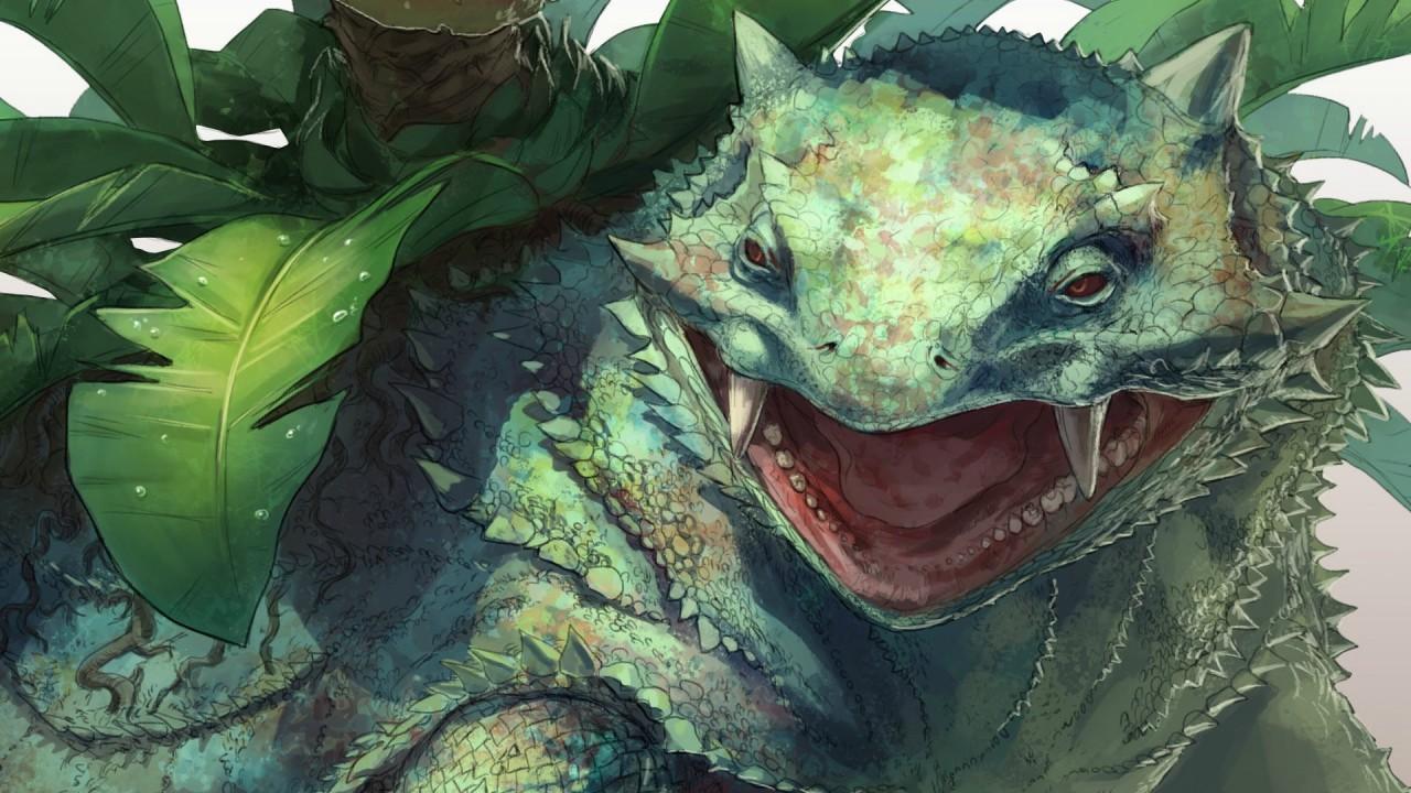 Dinosaur hidden between plants