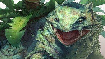 Dinosaur-hidden-between-plants