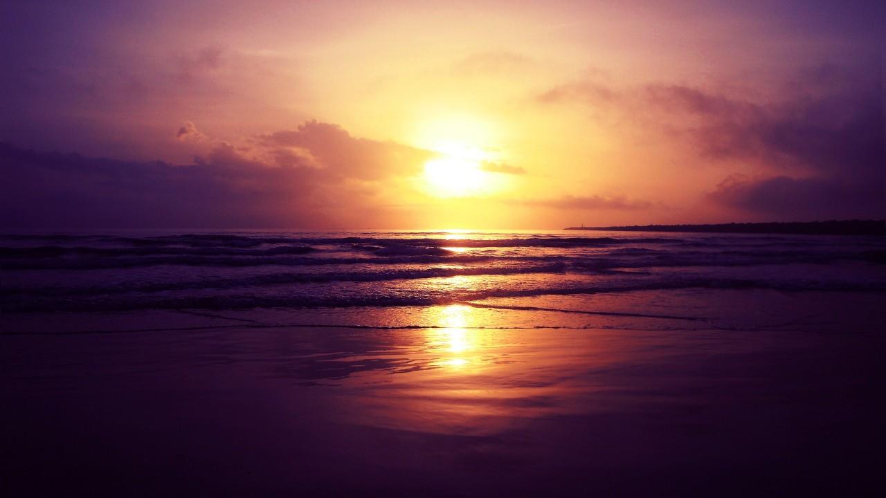 beach sunset wide