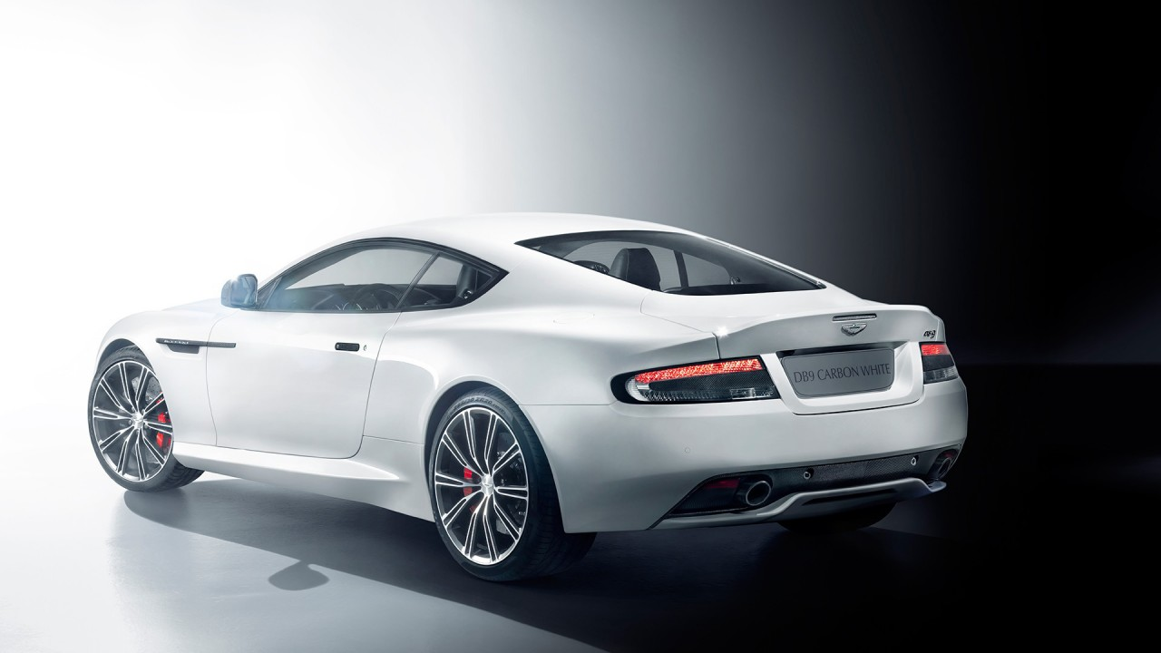 aston martin db9 carbon white wide