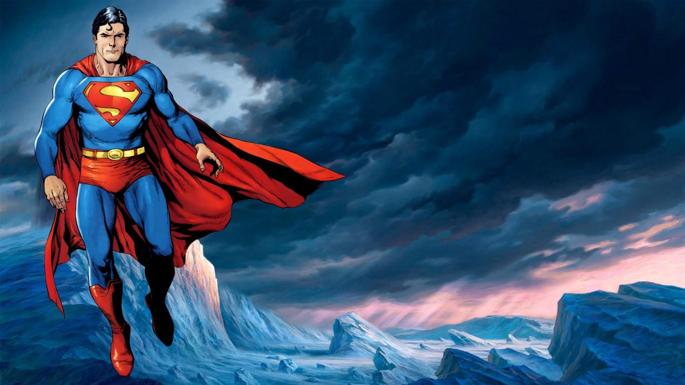 Superman Cartoon Hd Wallpaper Wallpapers Trend