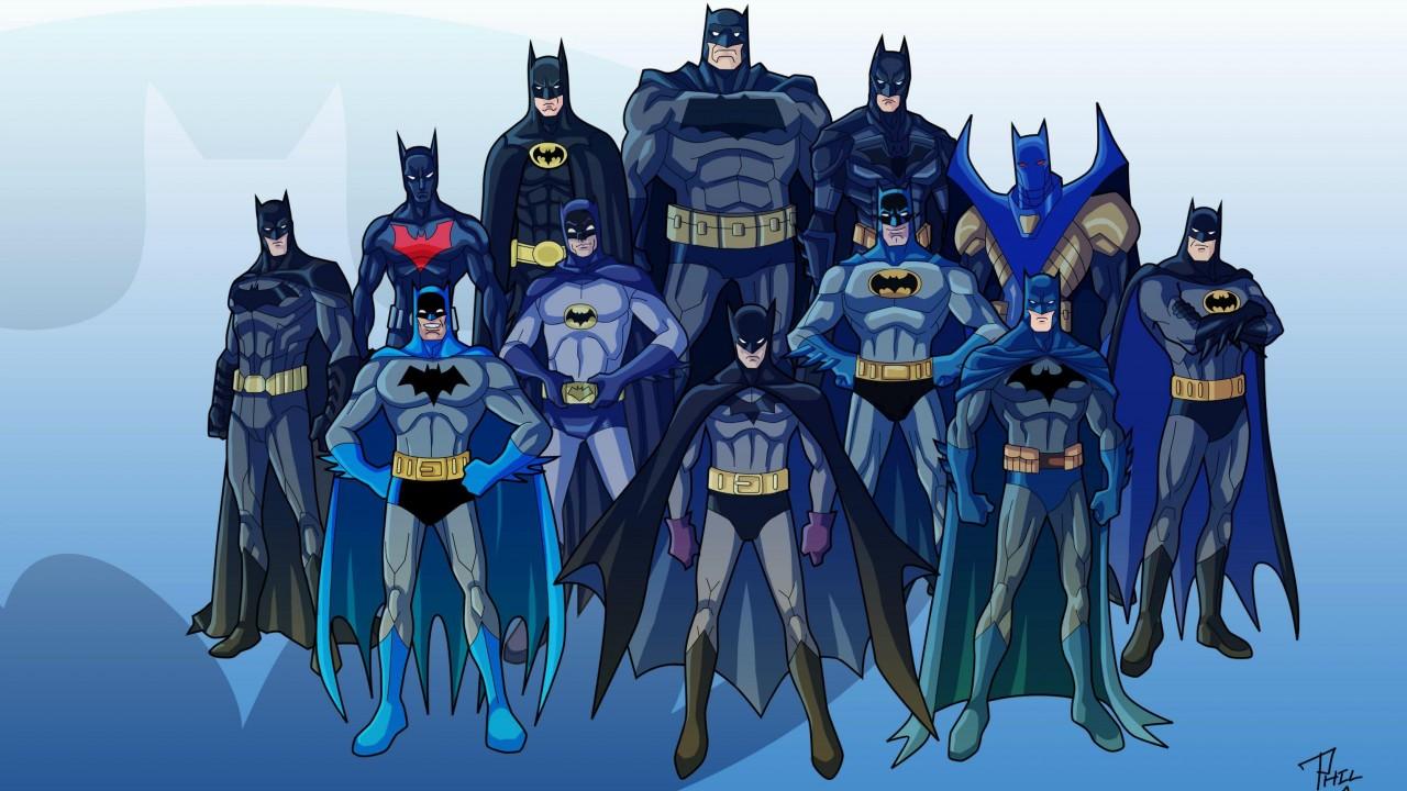 Various Batman characters
