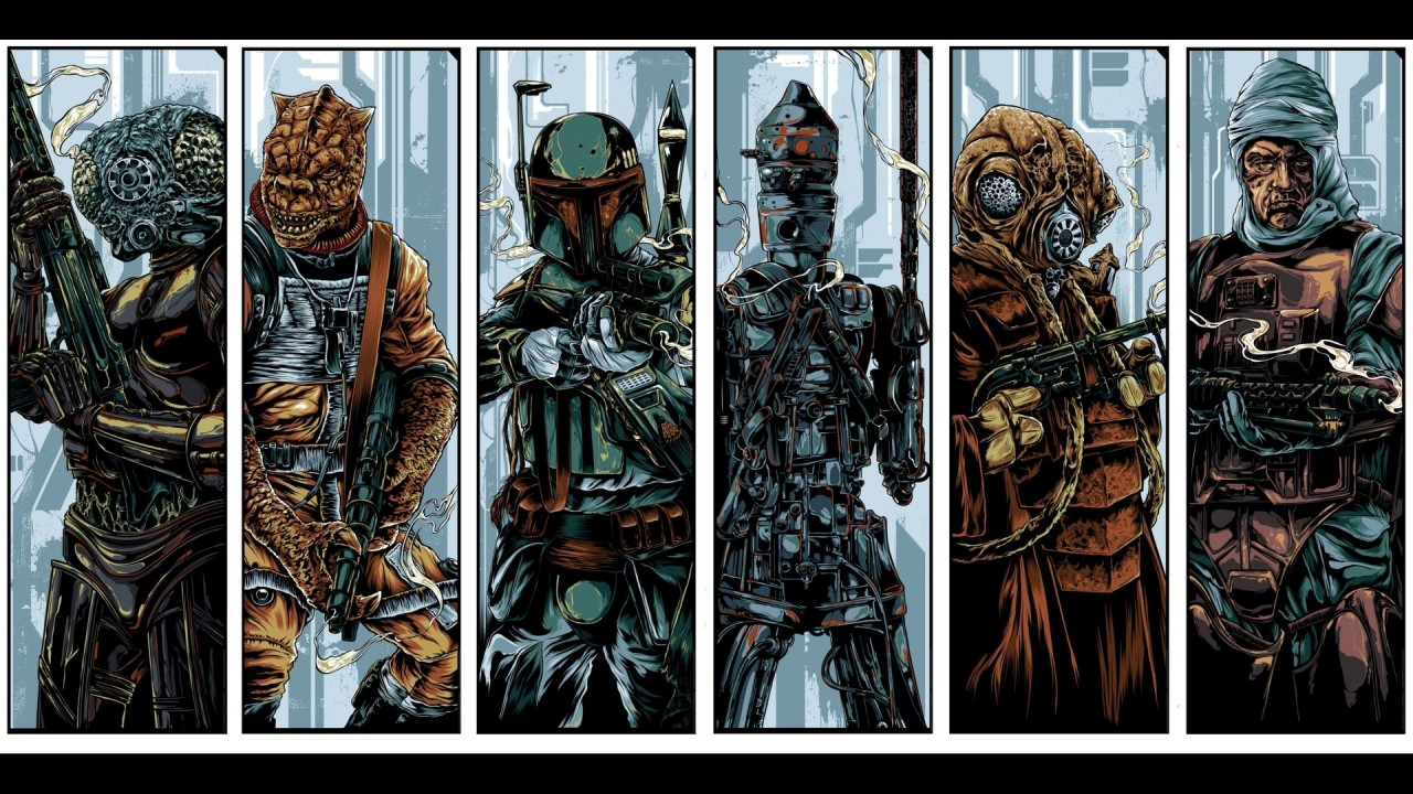 Various bounty hunters