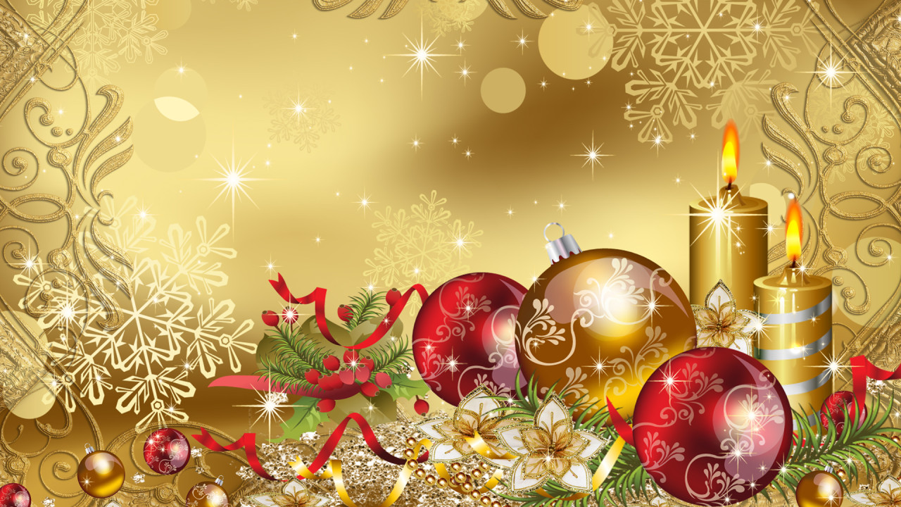 hd wallpaper christams gold