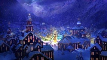 hd-wallpaper-christams-village-square