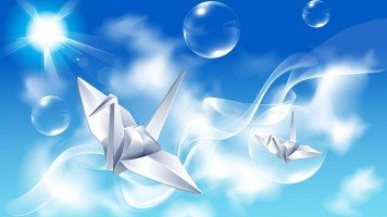 hd-wallpaper-creative-design-paper-crane
