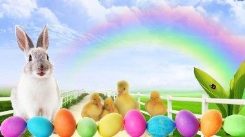 hd-wallpaper-easter-bunny-lane-clouds-colored
