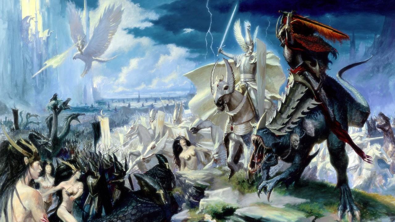 fantasy war hd wallpaper