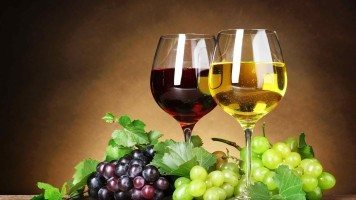 White-and-red-wine