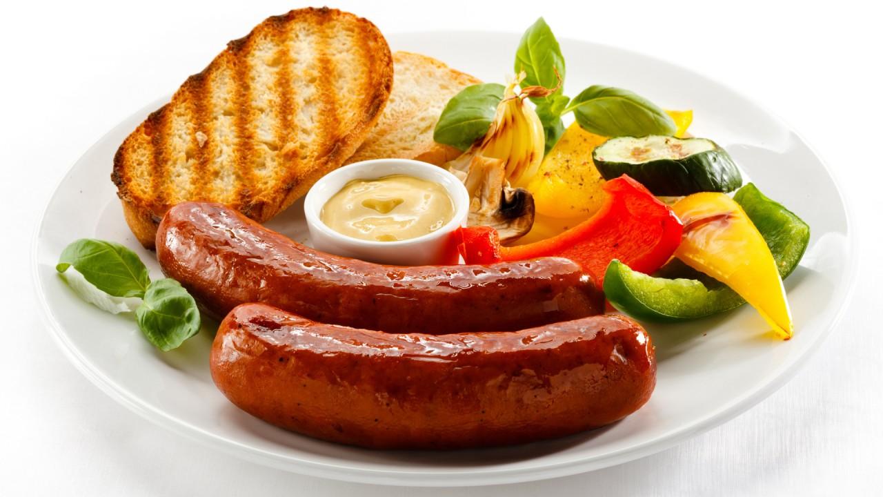sausage bread food hd wallpaper