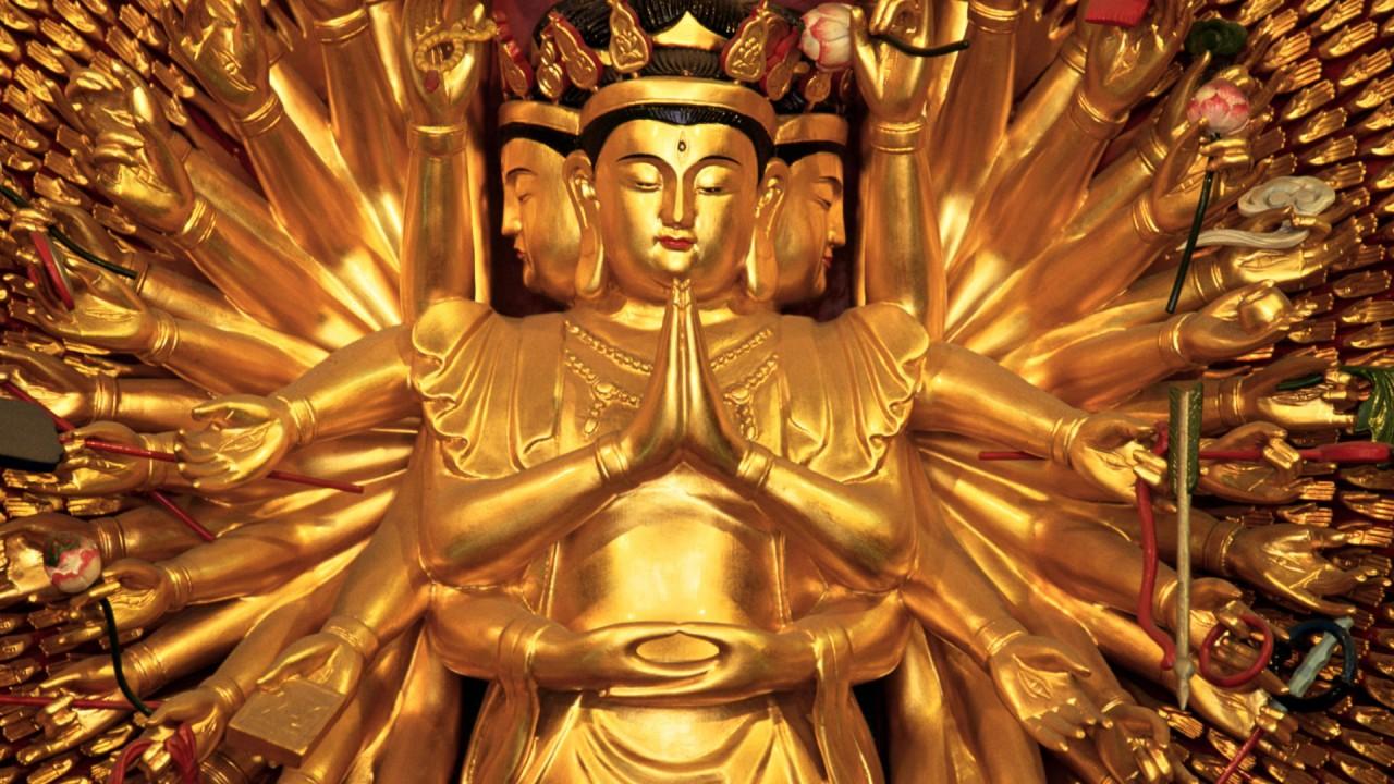 buddhist temple shanghai china gods hd wallpaper