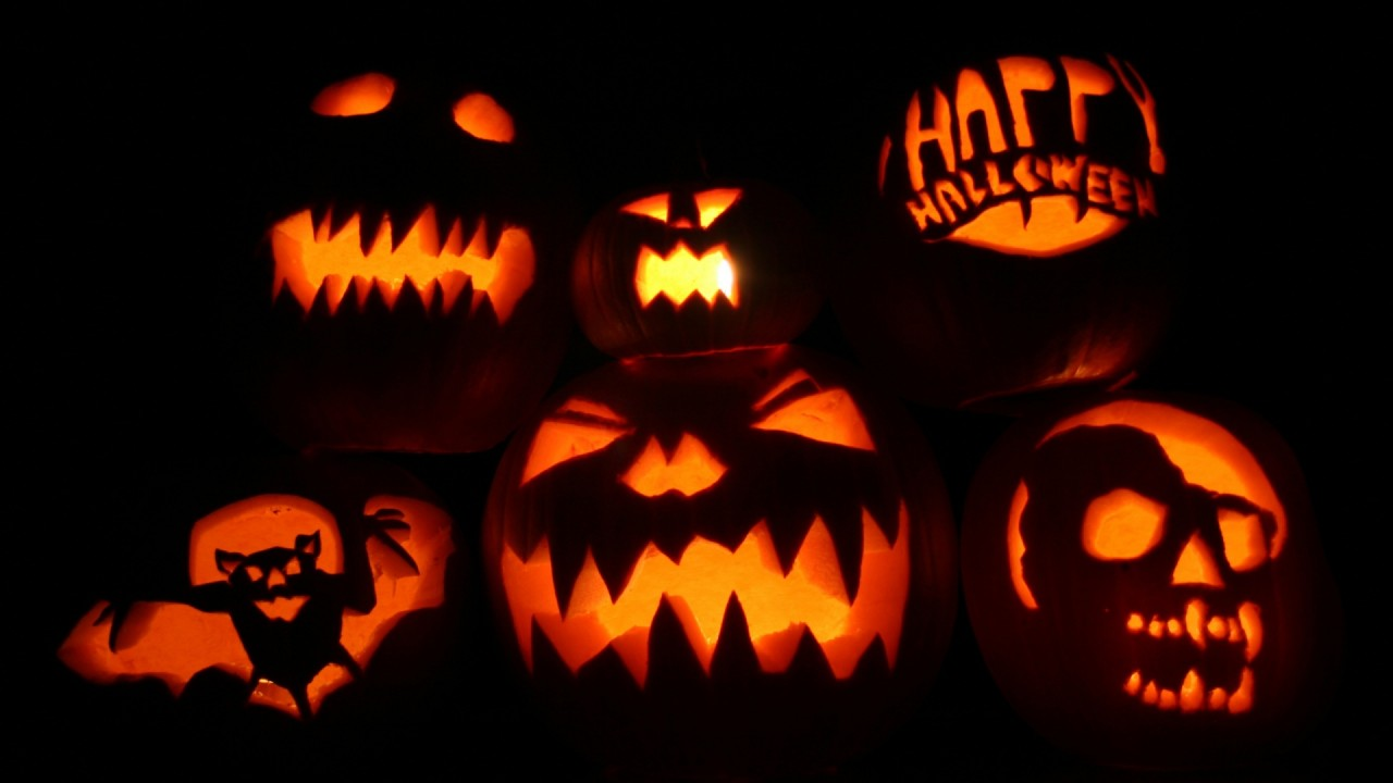 halloween pumpkins hd wallpaper