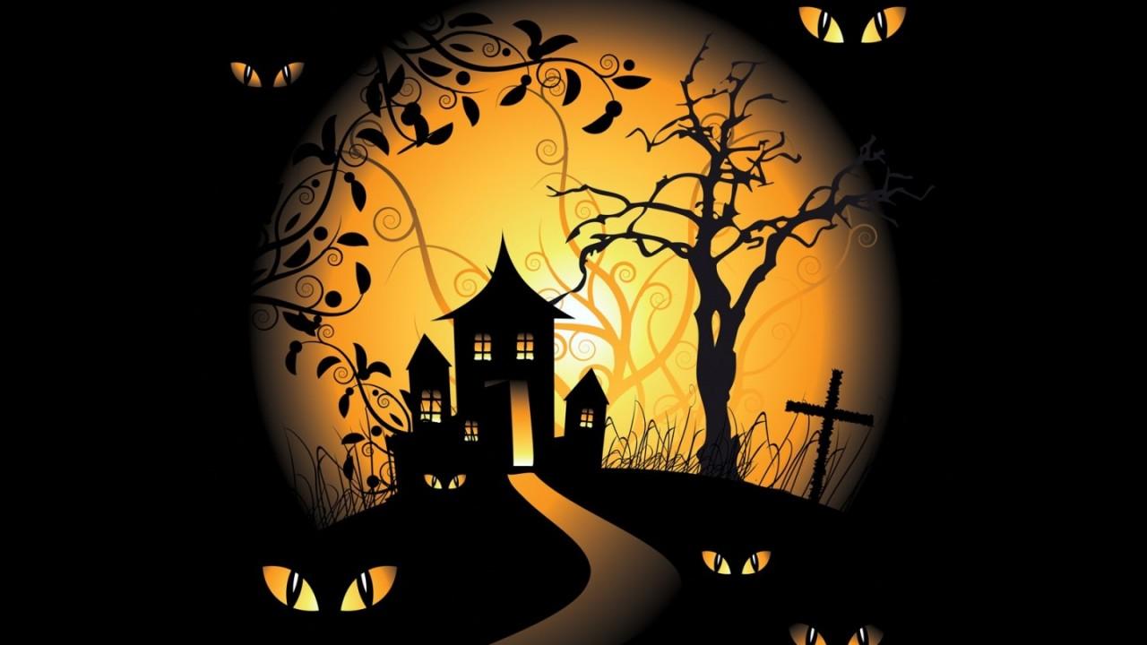 halloween spooky digital hd wallpaper
