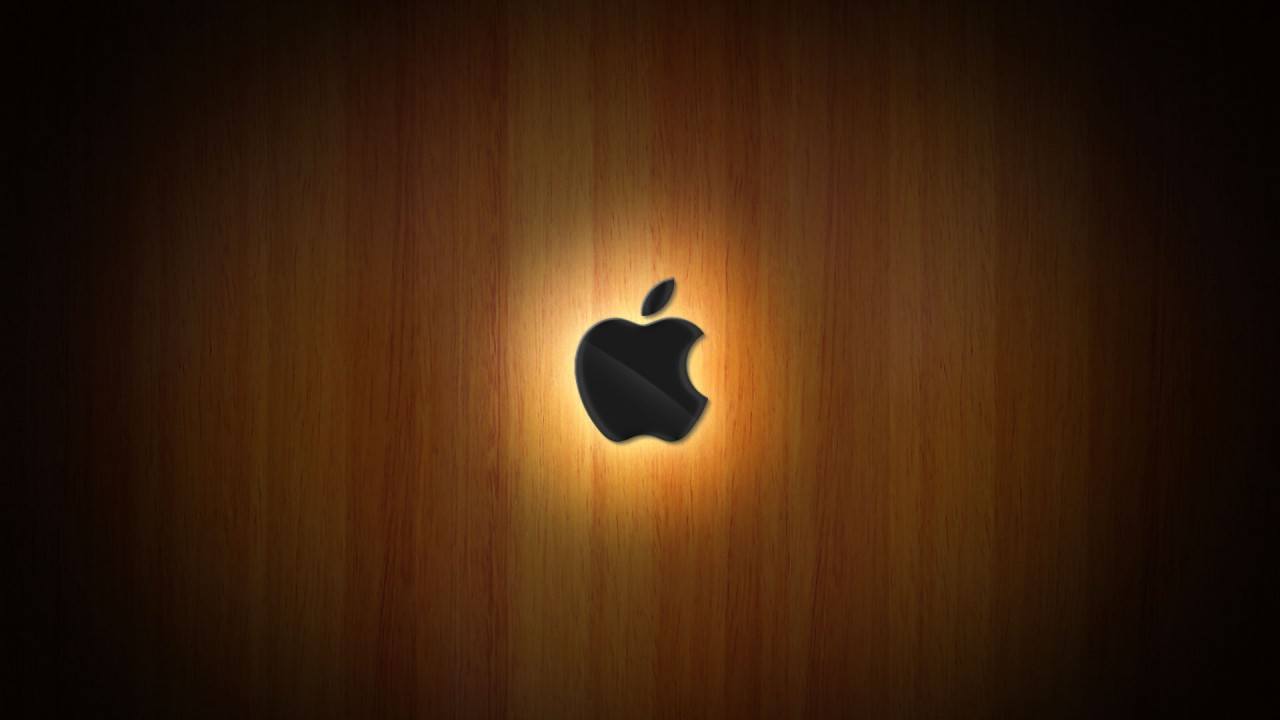 wooden glow of apple wide