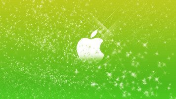 apple-logo-in-green-glitters-wide