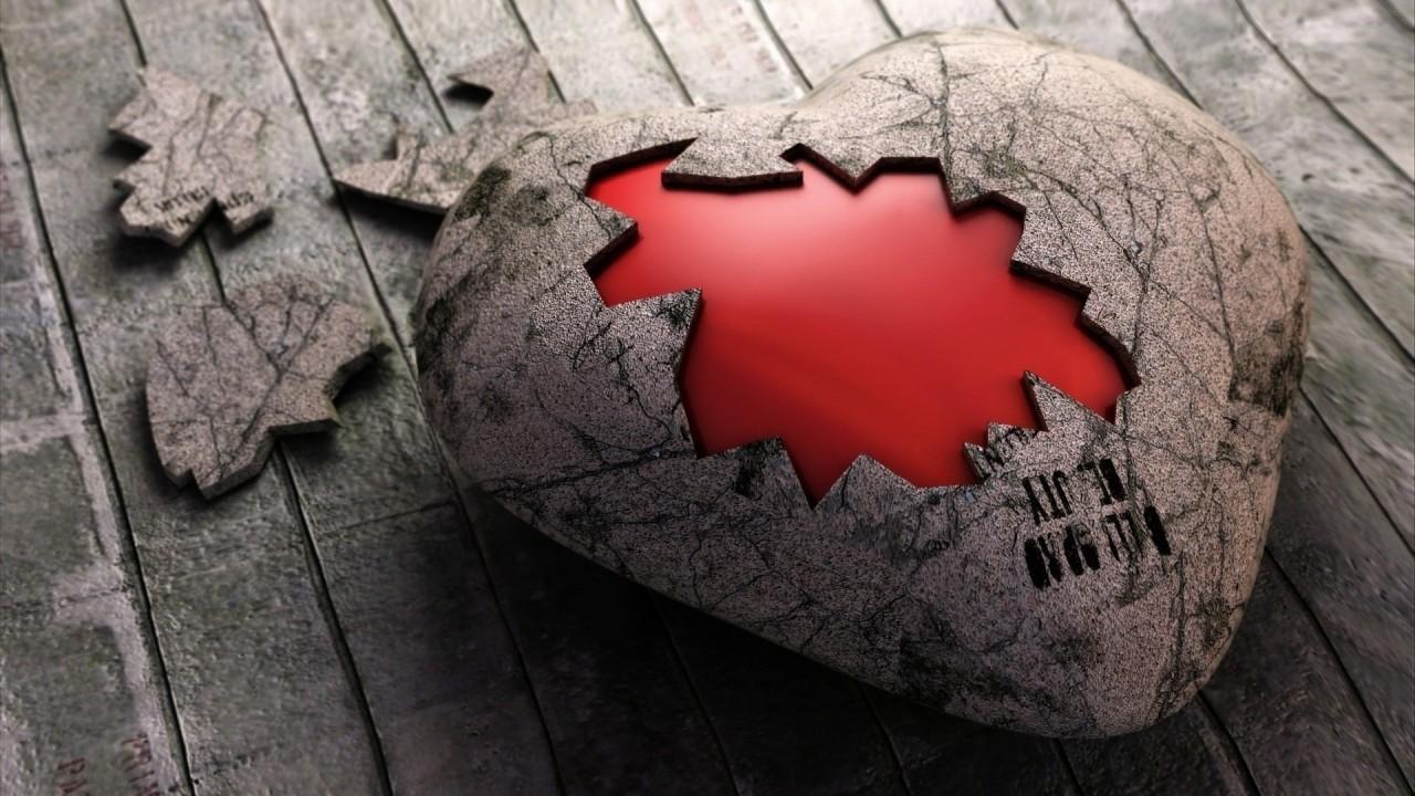broken heart love hd wallpaper