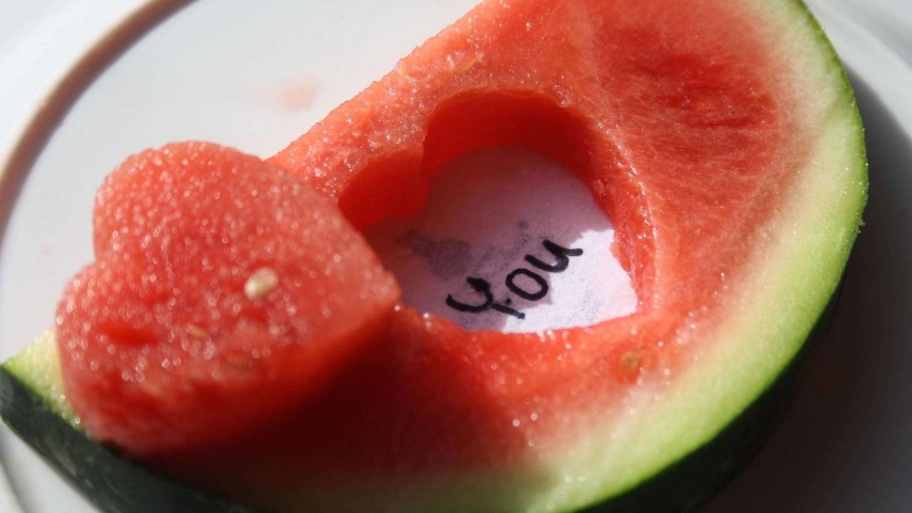 hd wallpaper love you watermelon