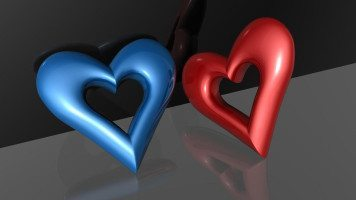 red-and-blue-hearts