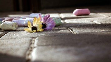 chalk-and-flowers