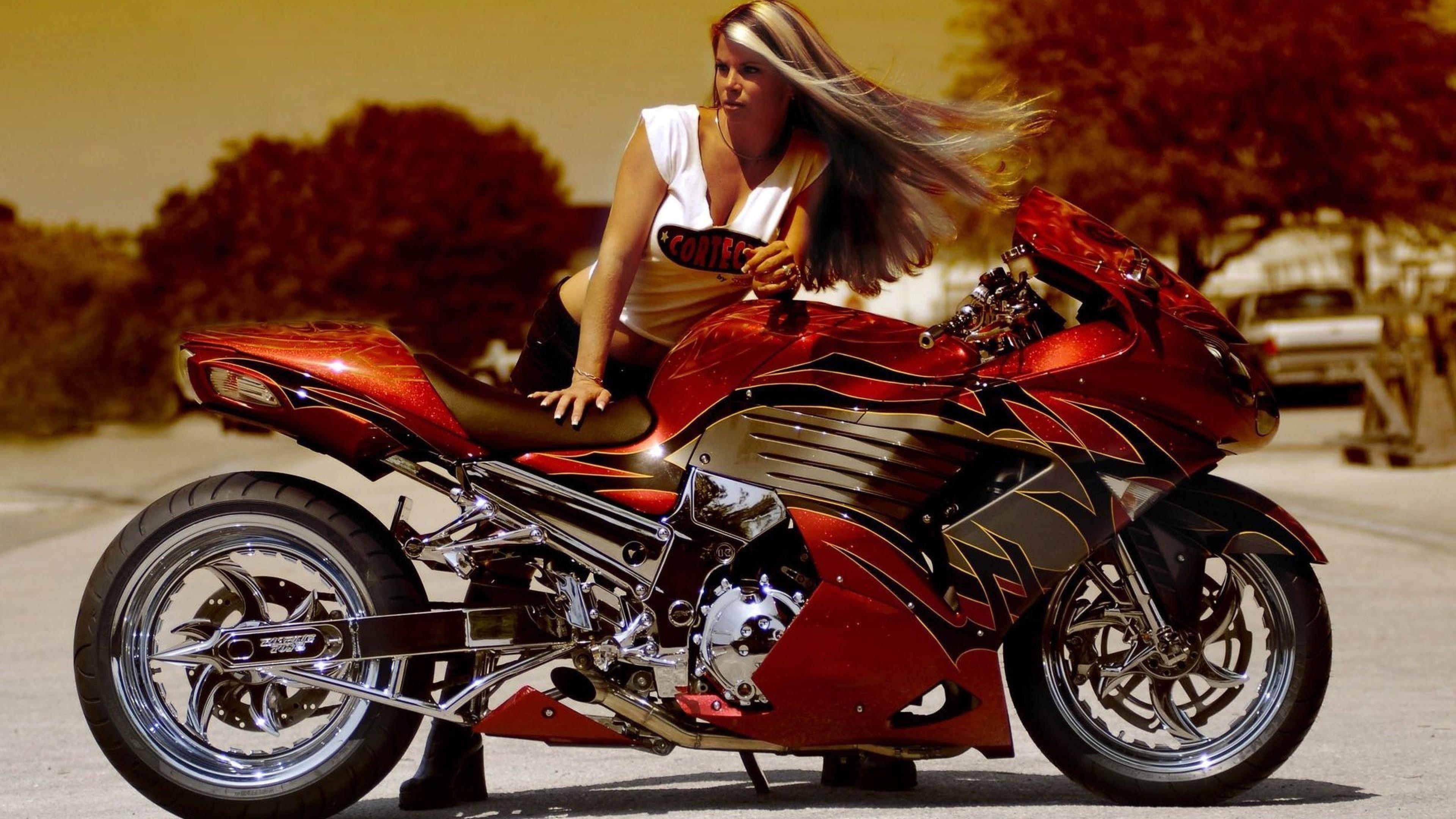 Женщина и мотоциклы картинки 5