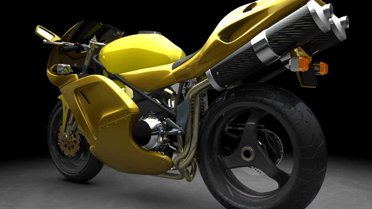 yellow sports bike normal