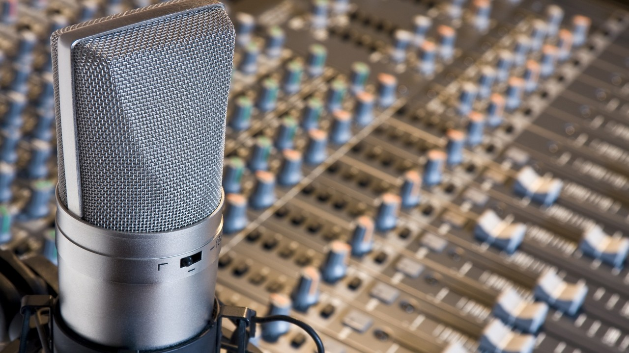 artistic recording studio hd wallpaper