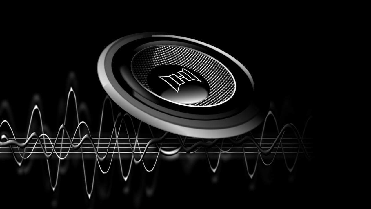 hd wallpaper black music speaker