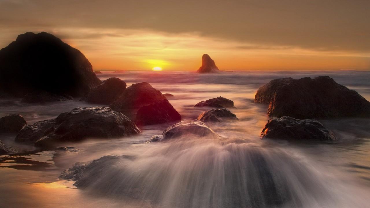 hd wallpaper sunset landscapes nature