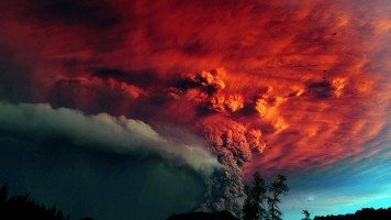 A-volcanic-eruption