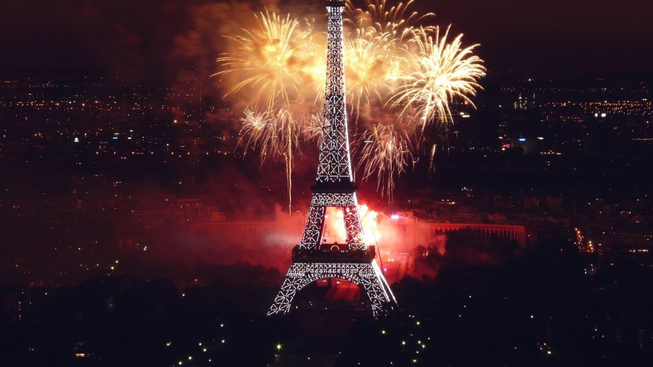hd wallpaper eiffel tower new year