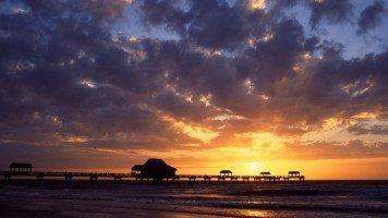 sunset-skyline-beach-florida-hd-wallpaper