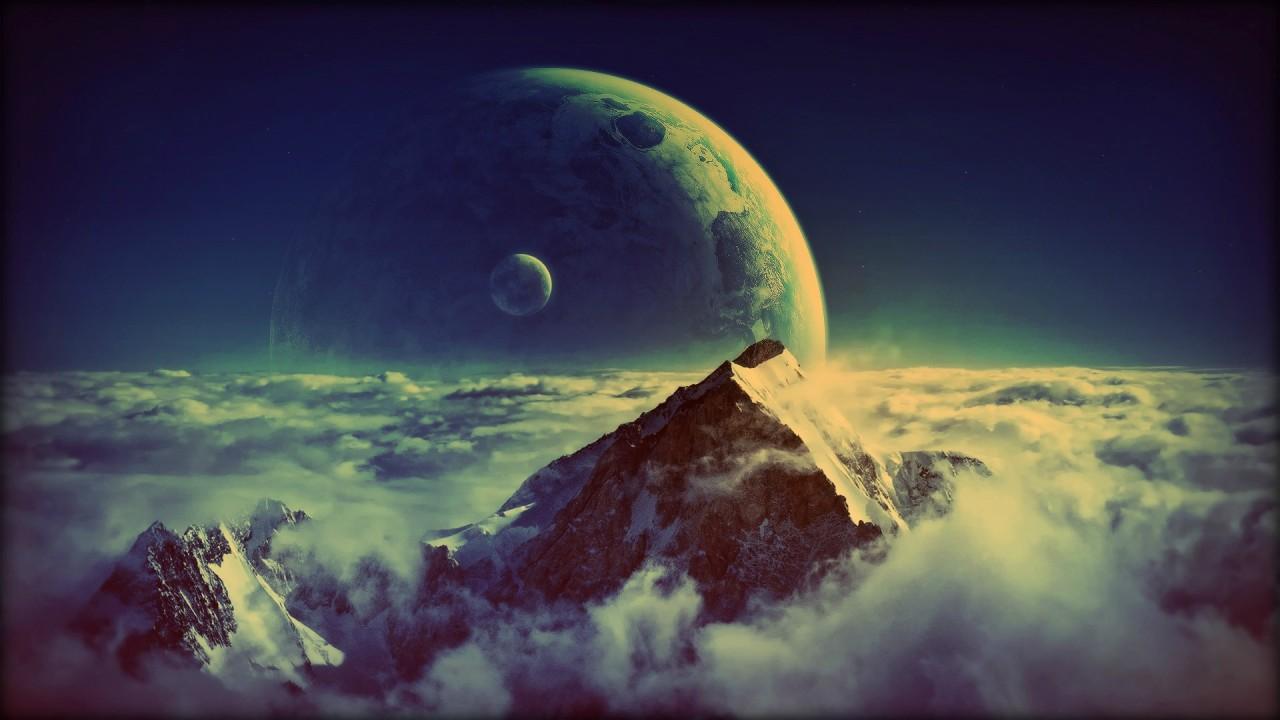 A mountain on Neptune