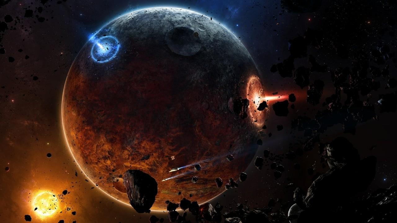 space asteroids hd wallpaper