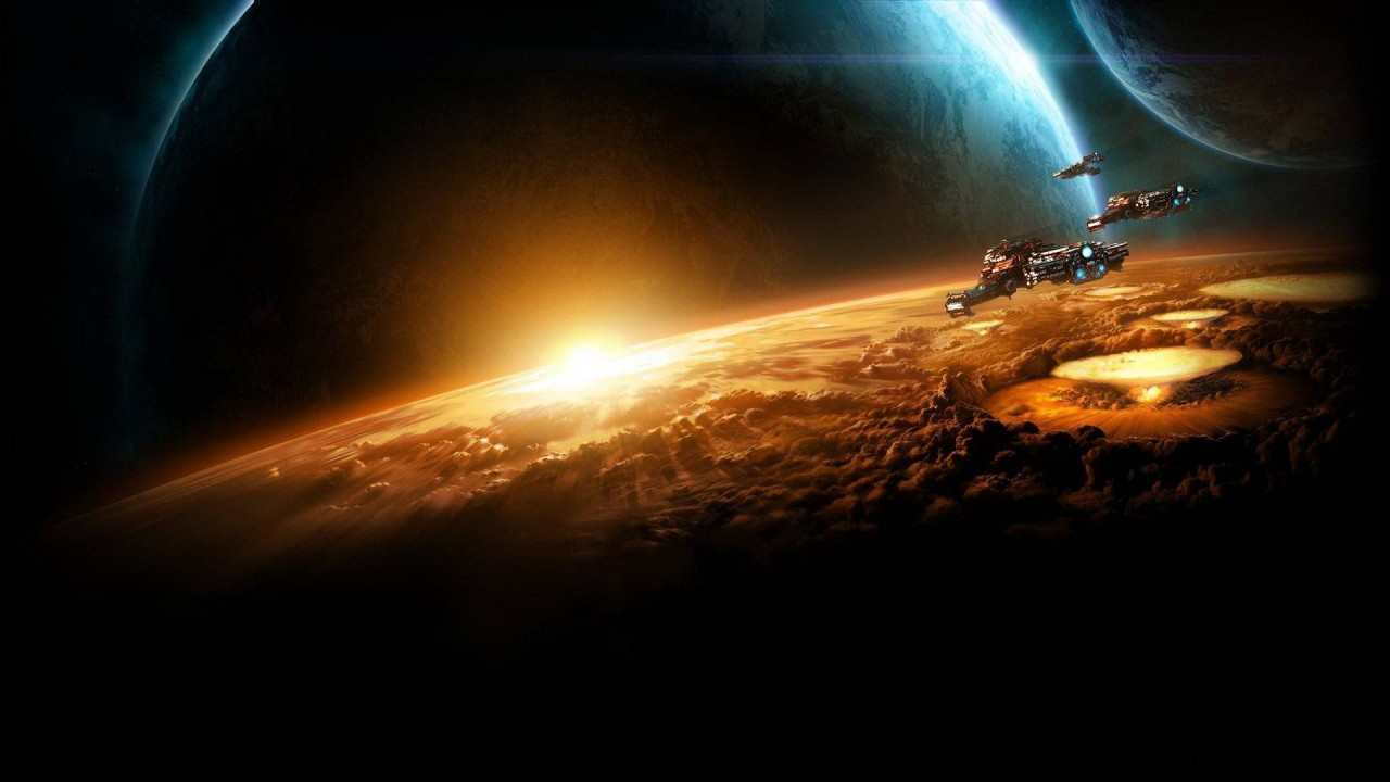space planets hd wallpaper