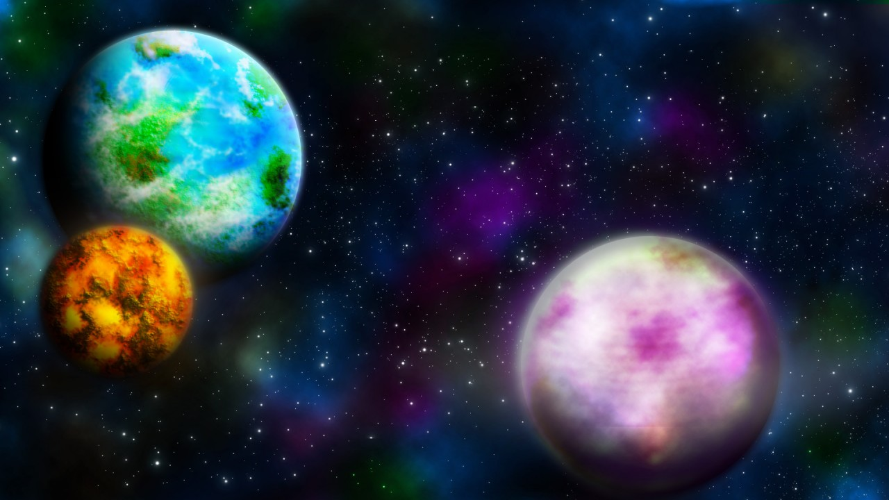 space world colorful hd wallpaper