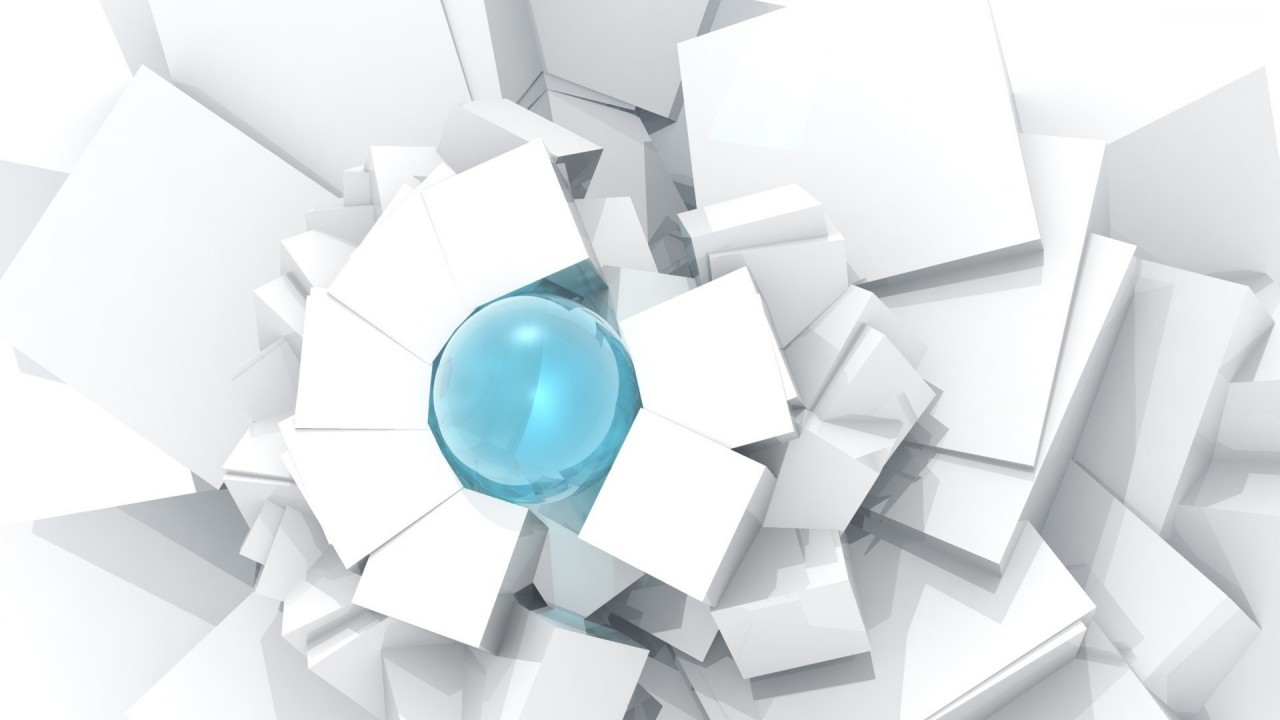 cubes and sphere hd wallpaper