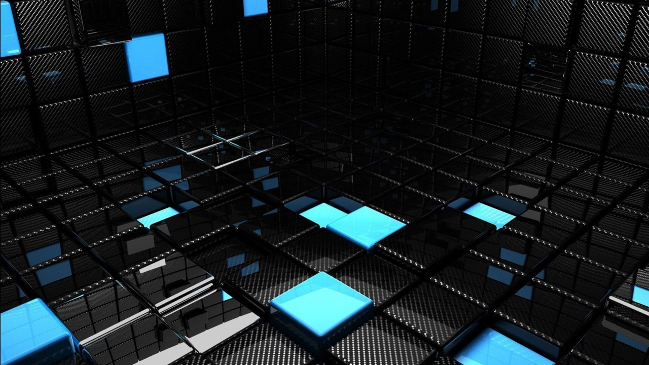 hd wallpaper 3d cubes relection