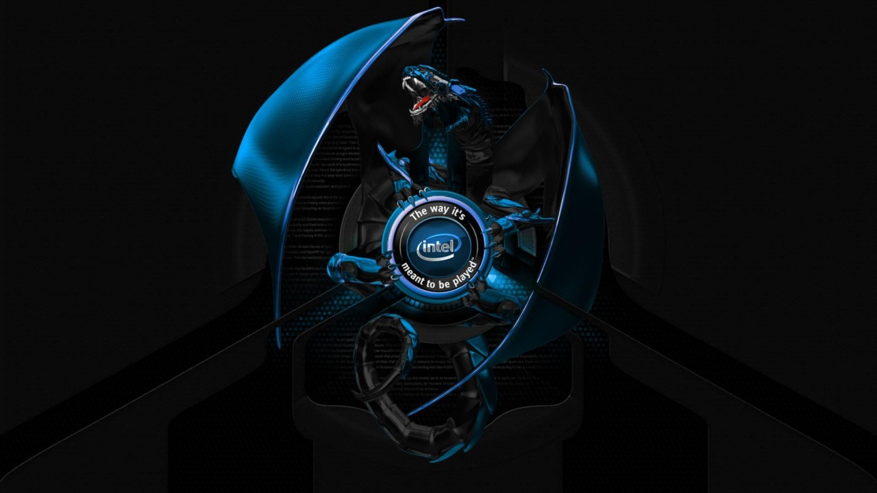 hd wallpaper 3d intel dragon