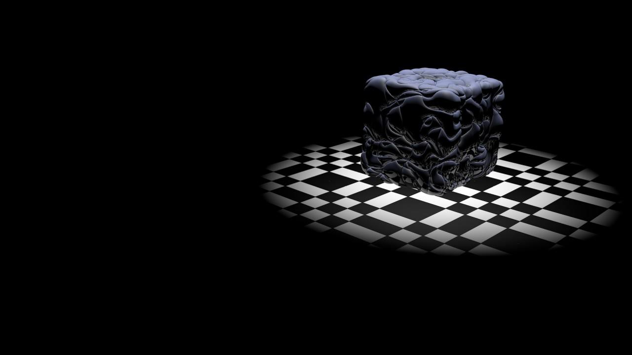 hd wallpaper 3d space cube