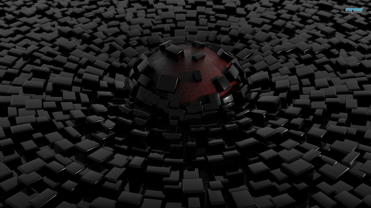hd wallpaper sphere and cubes 3d