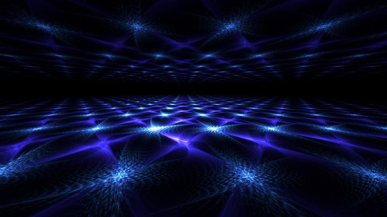 blue fractal mirror wide