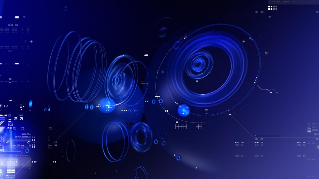 blue tech circles wide