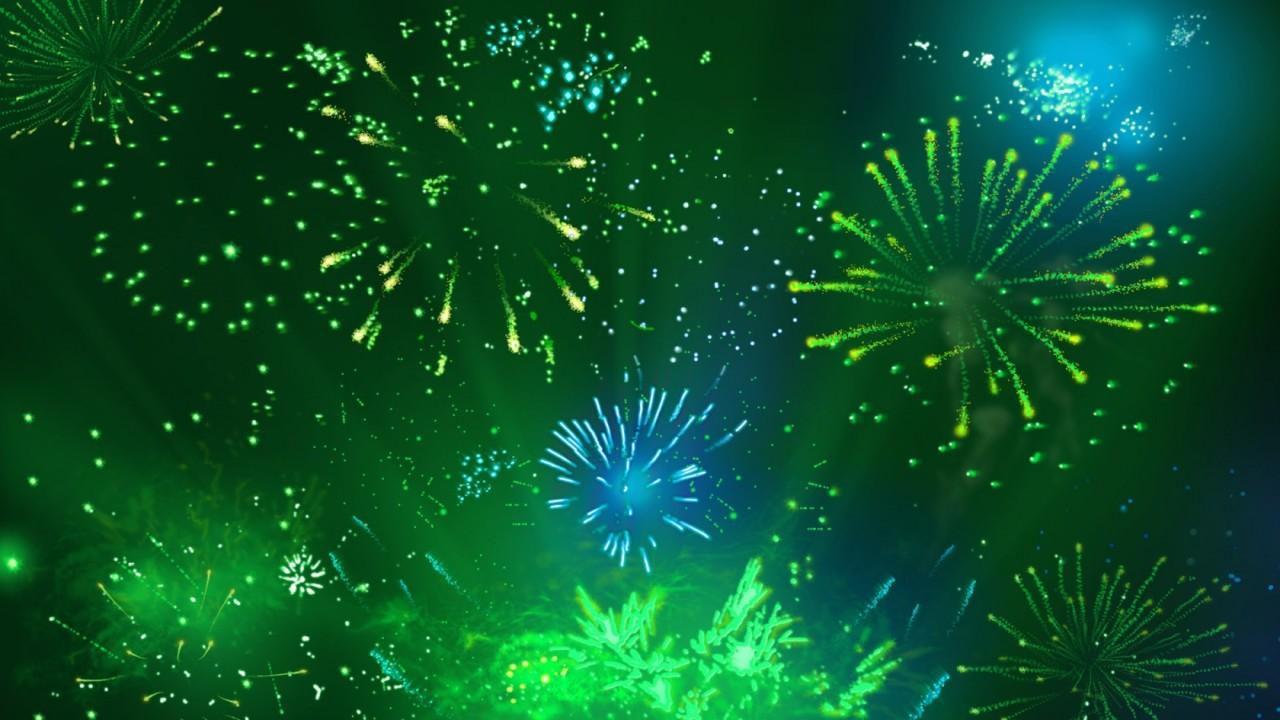 green fireworks 2 wide