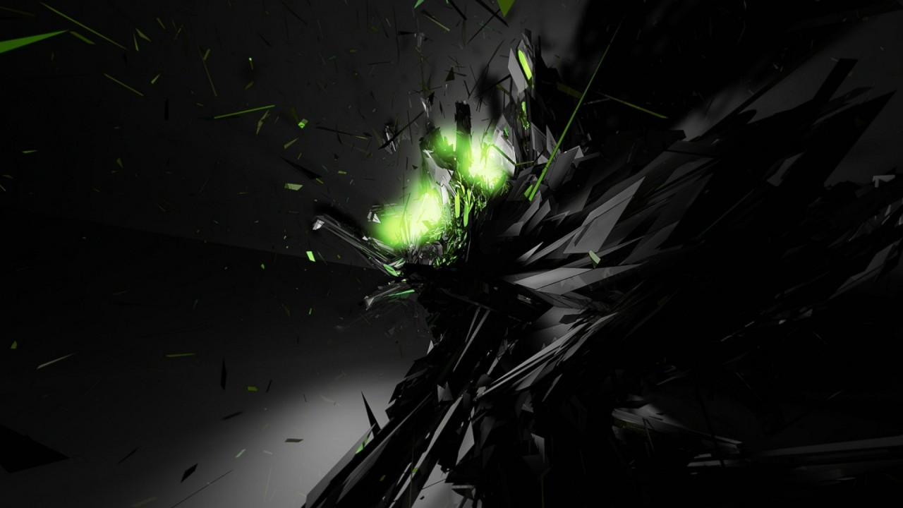 black abstract green hd wallpaper