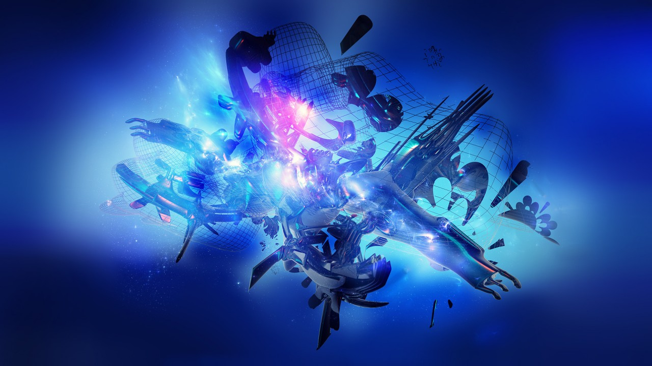 blue abstract 1080p HD