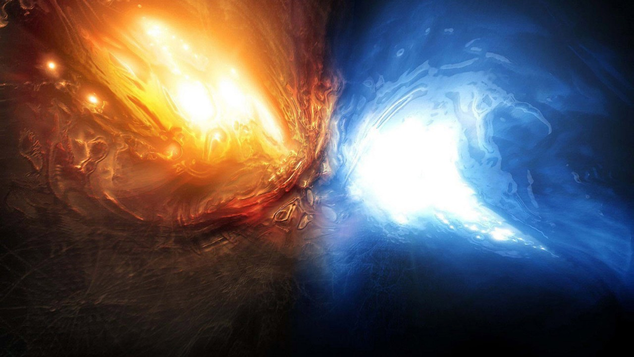 hd wallpaper fire and water abstract